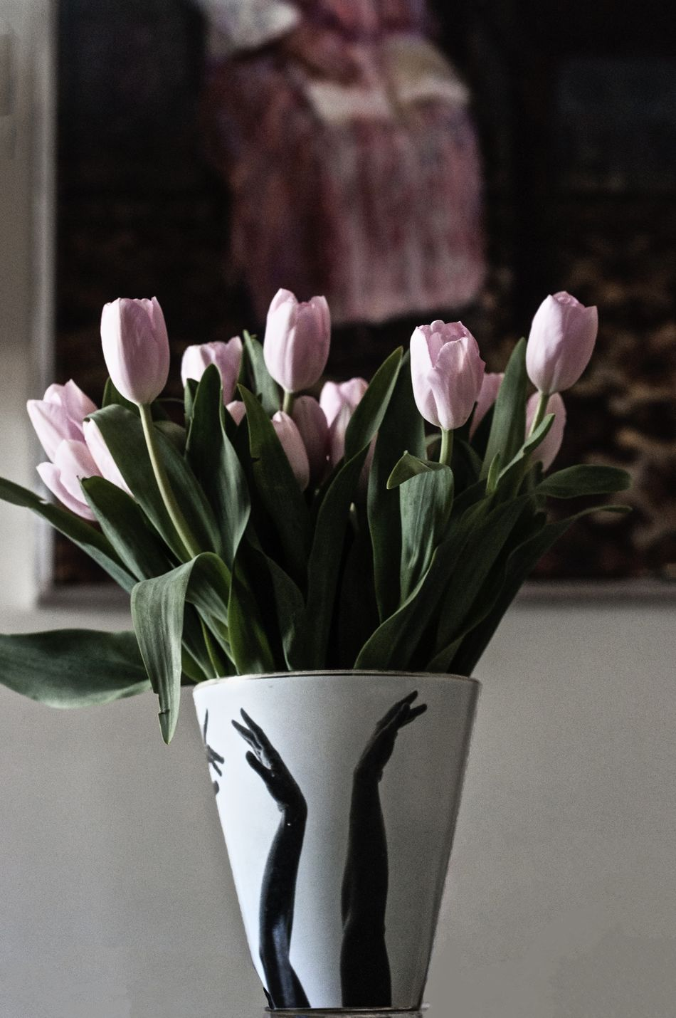 Beauty In Nature Blooming Close-up Flower Arrangement Flowers Fragility Freshness Just Taking Pictures Low Angle View Millennial Pink Pink Color Tulips Vase