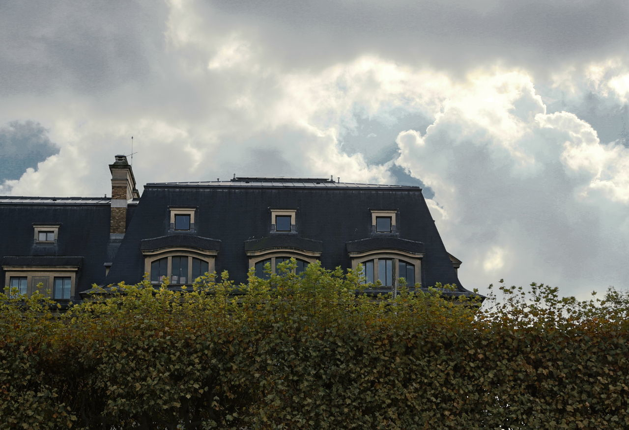architecture, building exterior, sky, built structure, cloud - sky, plant, no people, tree, outdoors, nature, city, day
