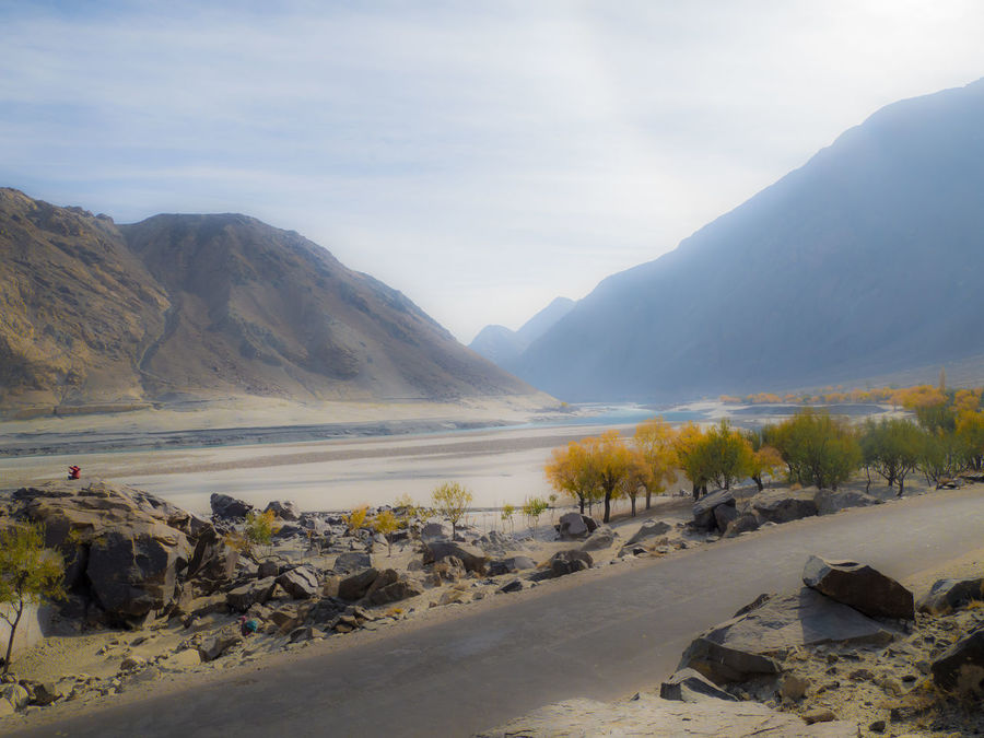 Along The Way Autumn Beauty In Nature Cloud - Sky Landscape Mountain Nature River River View Riverside Road Scenics Sky