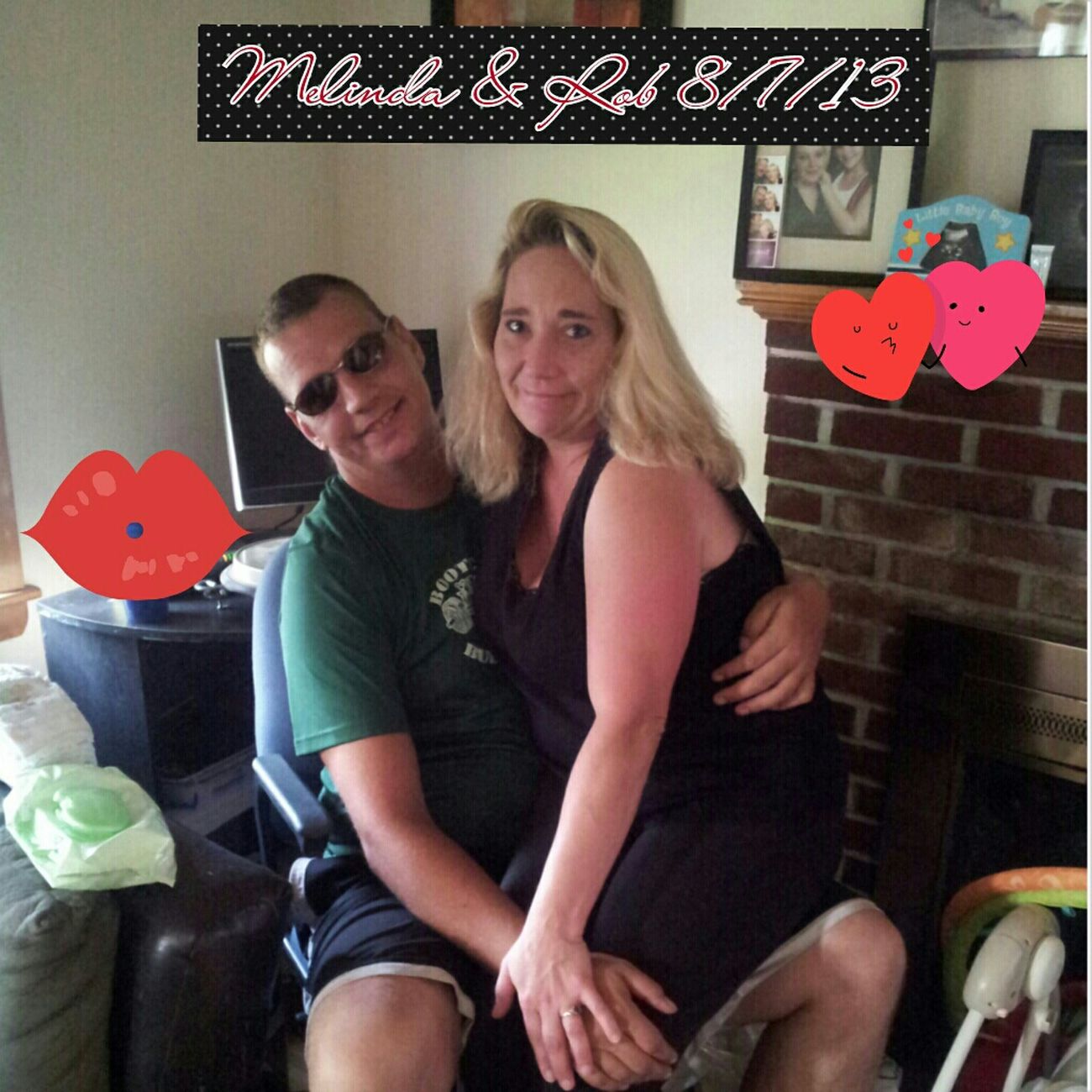 Me & Rob At My Son's House 8/7/13