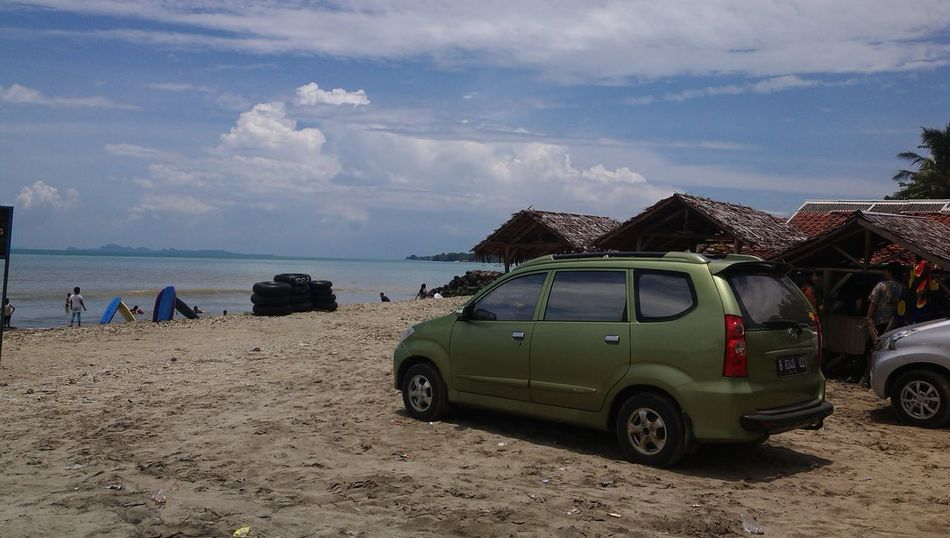 Anyer  Anyer Beach Beach Beauty In Nature Car Cloud - Sky Day Horizon Over Water INDONESIA Indonesia Travel Destination Nature Outdoors People Sand Sea Sky Transportation Travel Travel Destination Water