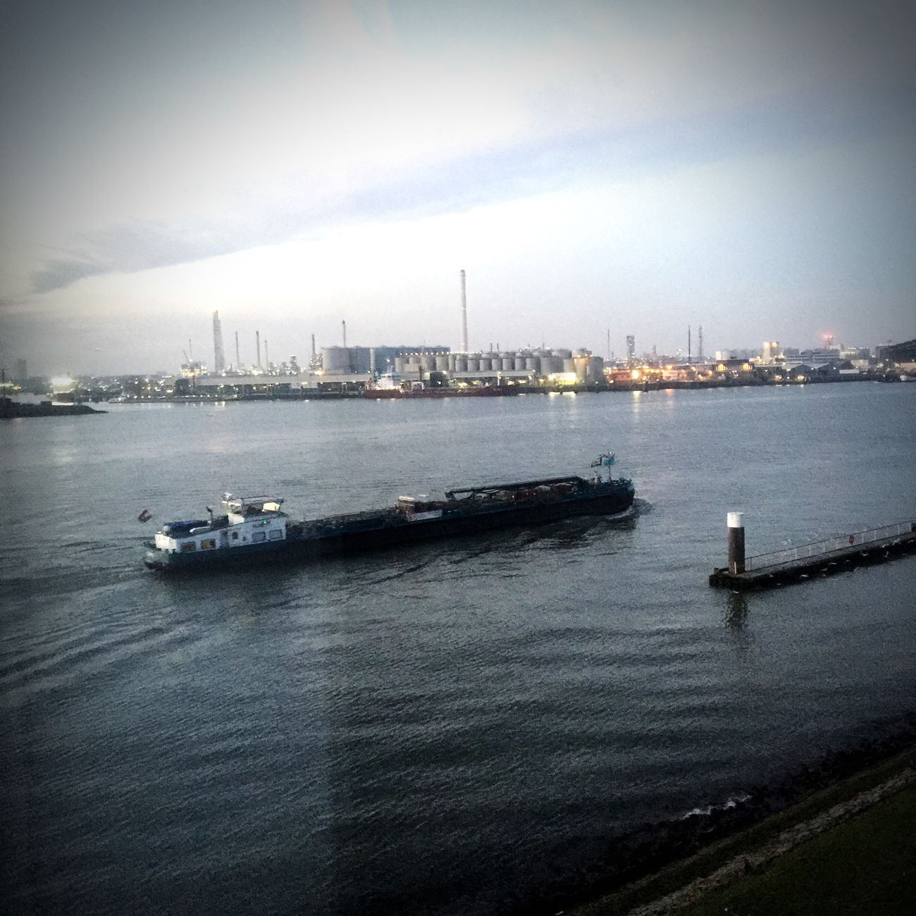 The Places I've Been Today Harbour Rotterdam This Morning