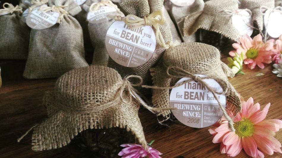 Rustic Rustic Wedding Sack Coffee Giveaways Burlap Burlap Sack Burlap Bag Jars