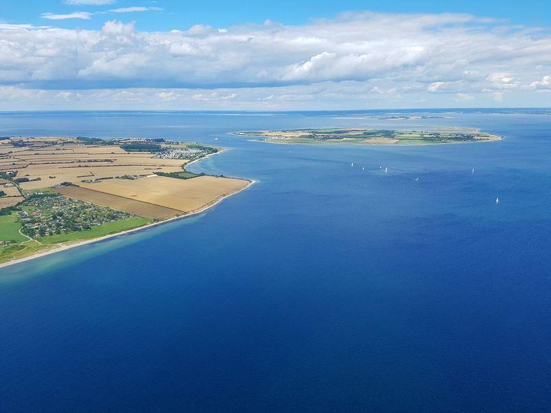 Årø årøsund Lillebælt Danmark Denmark Ocean Oceanview Summer Helicopterview Island Idyllic Idyllic Scenery Blue