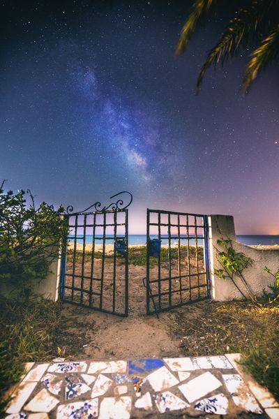Heaven's Door Astronomy Astrophotography Beach Door Garden Home Infinity Long Exposure Milky Way Milkyway Milkyway,sky,star,landscape,night Nabeul Nabeul Tunisia Night Nightphotography Old Door Palm Sea Star Stars Universe
