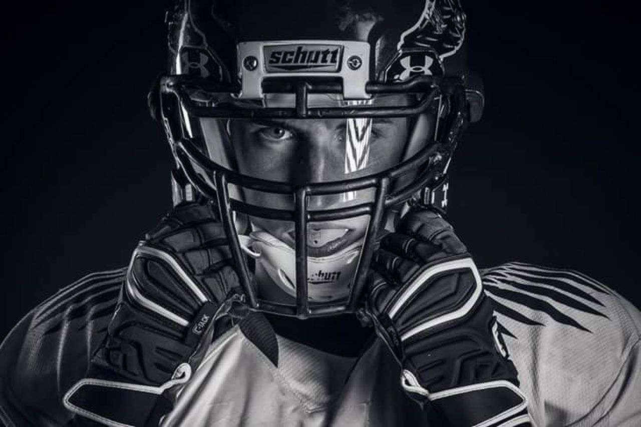 Strength Black Background Front View American Football - Sport Warrior - Person American Football Player Football Helmet Headwear Nikon D5200 Sports Photography NFL NFL Football Portait Portrait Photography