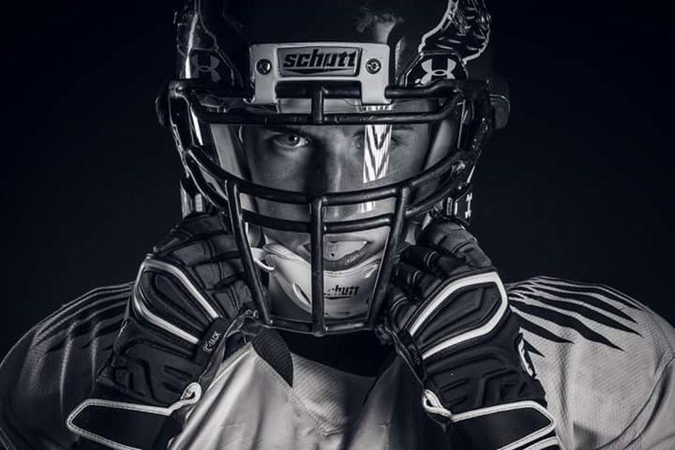Strength Black Background Front View American Football - Sport Warrior - Person American Football Player Football Helmet Headwear Nikon D5200 Sports Photography NFL NFL Football Portait Portrait Photography
