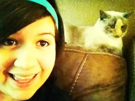 Chilling with my cat lol