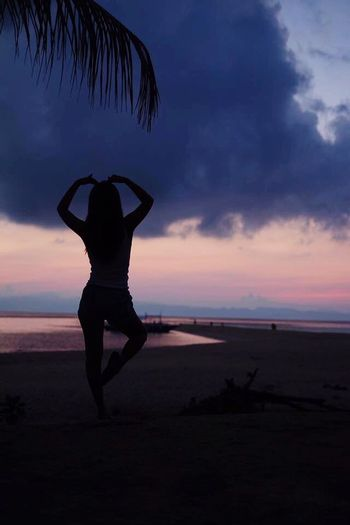 Sunset Beach Silhouette Sand Horizon Over Water Beauty In Nature Scenics Kalanggaman Island Philippines Leyte ★ WithMiBambina❤️