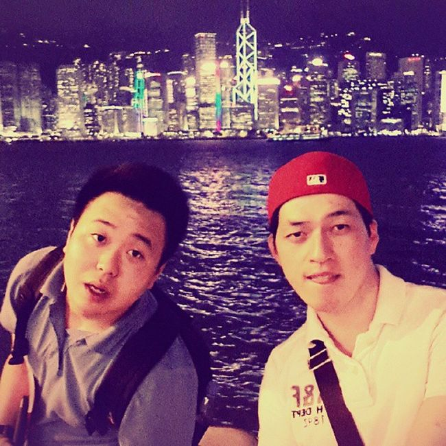 홍콩 침사추이 에서 셀스타그램 홍콩야경 휴가 여름