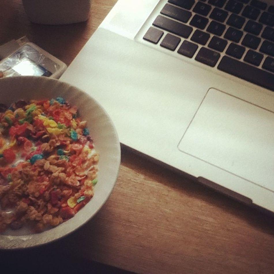 Morning Bfast Rise Cereal fruitpebbles childhood fave like me food sweets