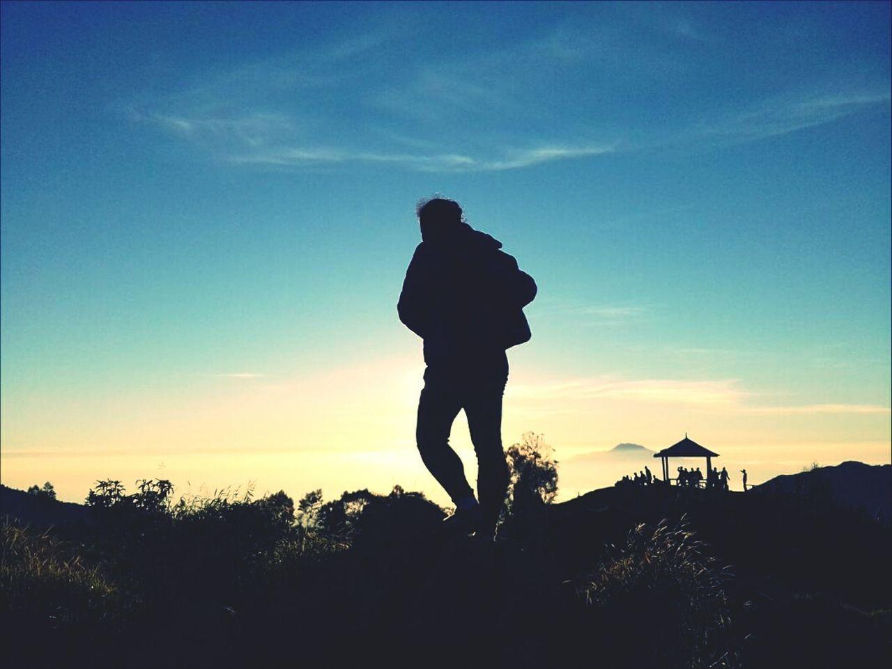 Sunrise Hiking Outdoors Mountain SikunirDiengWonosobo Wonderfulindonesia Beauty In Nature Strongwoman Siluet