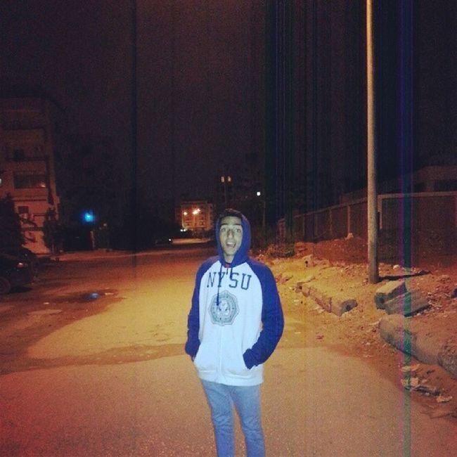 """1:30 am heading to koshary el tahrir .. Temperature : 9"""" C Instakoshary .."""
