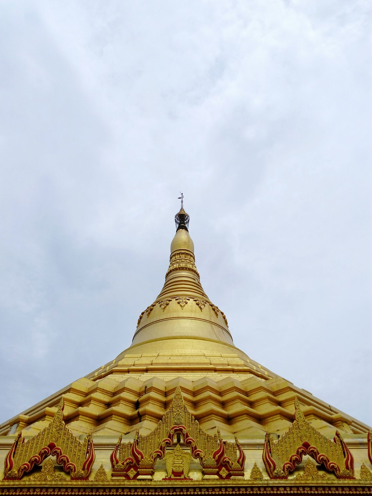 Naturephotography Sky Best Class Ever  Famous Places Buddhism Travel Photography International Landmark Pagoda India_clicks Famous Landmarks Buddhism Temple Ornate Design Buddhism Culture Gold Colored Dome Pagoda India Pagodamumbai Pagoda