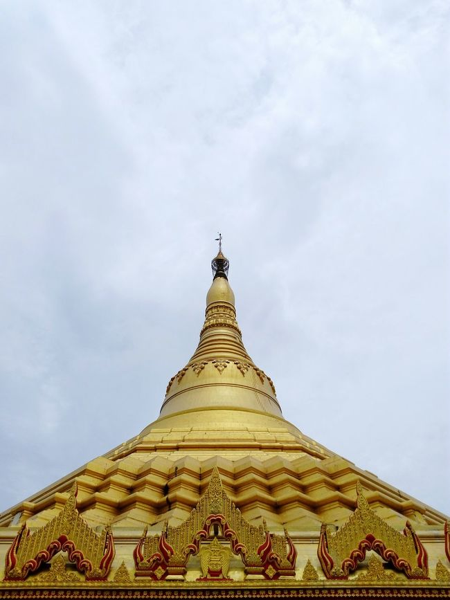 Naturephotography Sky Best Class Ever  Famous Places Buddhism Travel Photography International Landmark Pagoda India_clicks Famous Landmarks Buddhism Temple Ornate Design Buddhism Culture Gold Colored Dome Pagoda India Pagodamumbai Pagoda