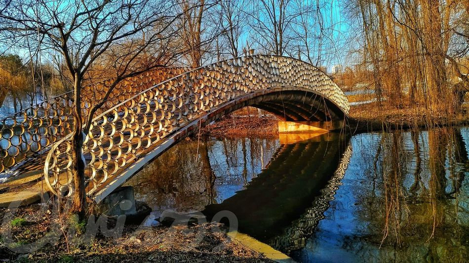 Day No People Reflection Reflection LakeOutdoors Nature Water Close-up Sky Bridge - Man Made Structure Bridge Over Water Reflections In The Water Park Walking Blue Sky Wave Scenics Sea Beach Trees And Sky Tree Trunk Shadow Shadows & Lights Branches And Sky Parks And Recreation Tree