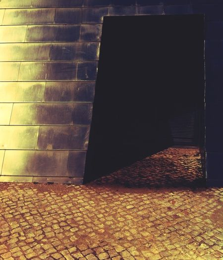 Hesitation Door Shadows & Lights Lurking Calçada Portuguesa