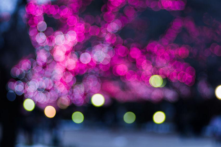 Close-up Defocused Focus On Foreground Illuminated Lighting Equipment Night No People Outdoors Pattern