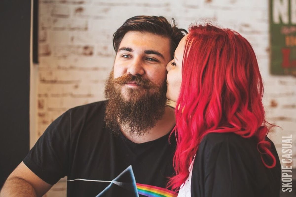 Boyfriend Beard RedHAIR ❤ Kiss Kissable Lovemyhair Lovemyboy Lovemyboyfriend ♥ Smile Bearded Beardman Love ♥ Hanging Out Pinkfloyd