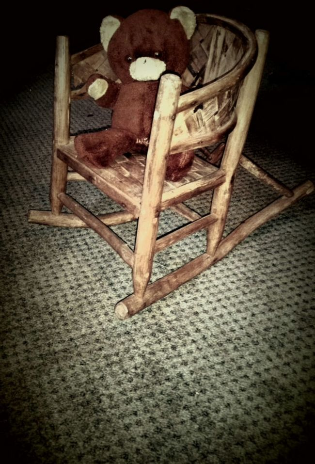 Antique Rockingchair Vintage Teddy Bear Old Children's Rocking Chair Children Toys Old Kids Toys Antique Furniture Antique Toys