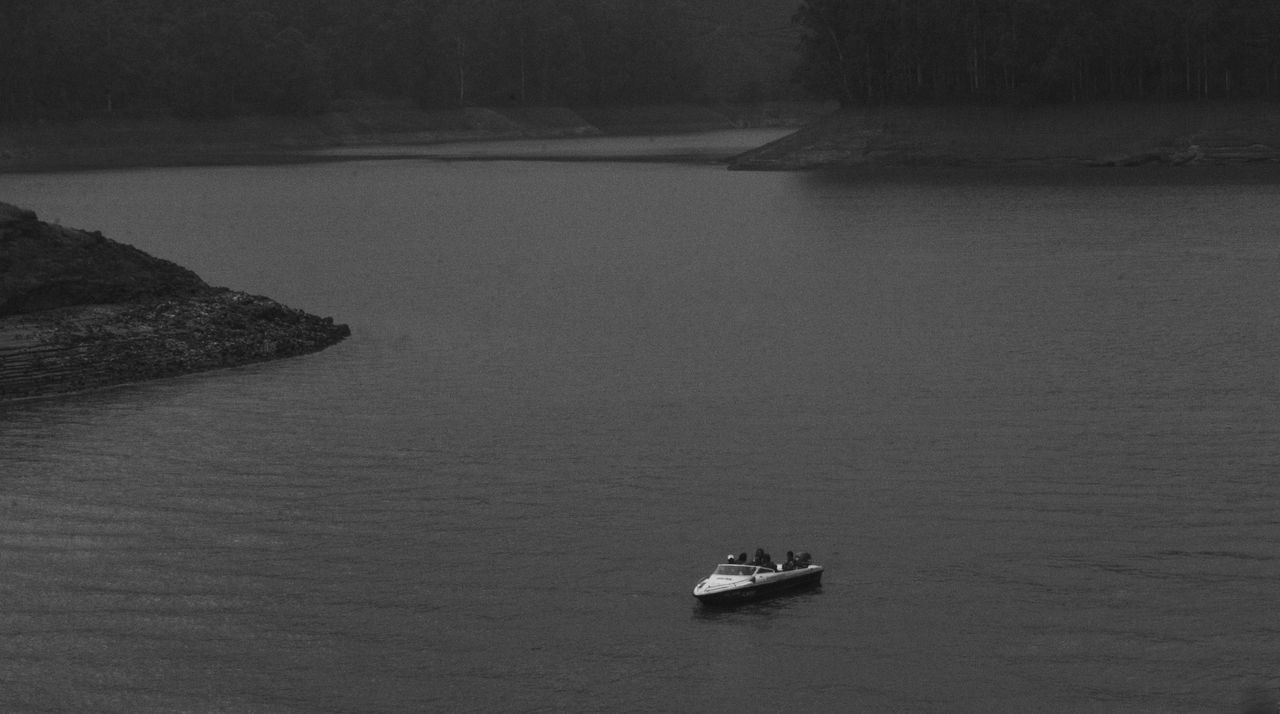 High Angle View Transportation Aerial View Day Nautical Vessel Mode Of Transport No People Water Outdoors Nature Wake - Water Sea Landscape Fine Art Photography Peace Blackandwhite TheWeekOnEyeEM