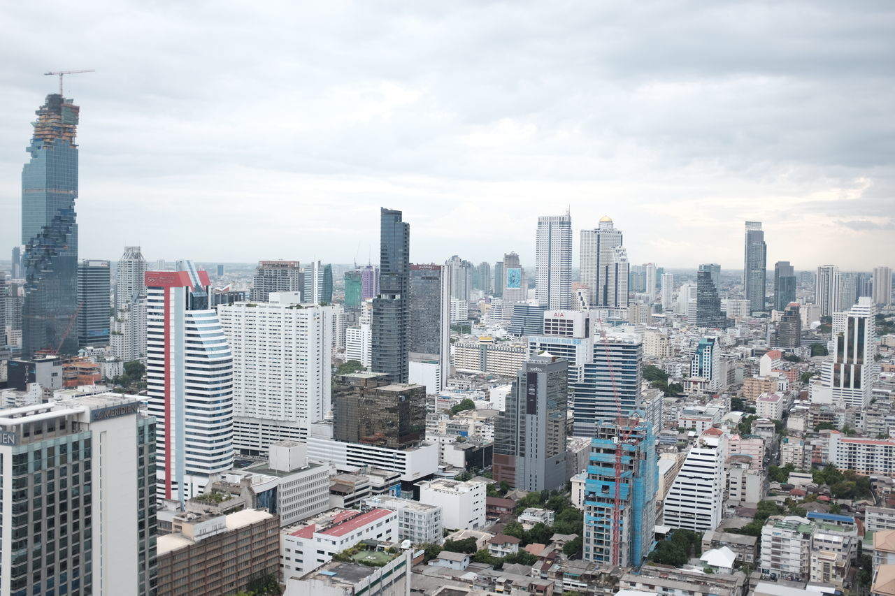 Building Exterior City City Scape Cityscape Cloudy Skyline Skyscraper Thailand Tower