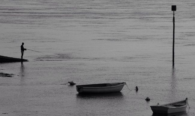 Colors Of Brittany Arradon  Fisherman Black And White