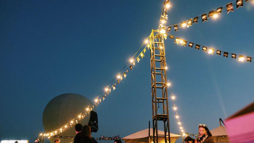 Gooseisland Illuminated Night Low Angle View Real People Outdoors Sky Men