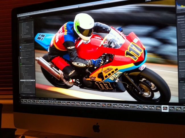 post production of motorsport photographs
