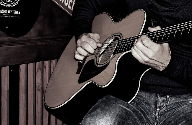 Playing Guitarist Guitar Playing The Guitar Acoustic Guitar Acoustic Live Music Evening Hands Hand Music Musician