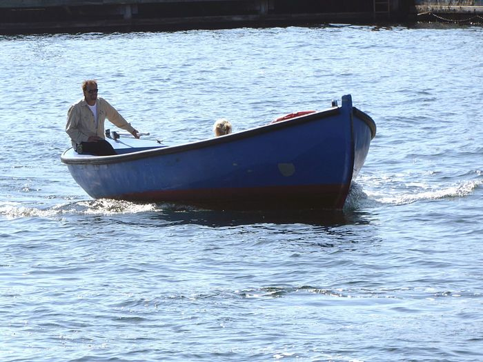 Denmark 🇩🇰🇩🇰🇩🇰 Wonderful Copenhagen Water Nautical Vessel Transportation Father And Daugter In Boet The Port Of Copenhagen Christianshavn Waterfront Mode Of Transport Transportation Transport Motorboat Water Reflections Sea Day Outdoors Men Real People Nature Full Length Mammal People