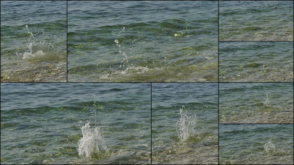 Collage Collage Art Creative Time On Vacations Playing With Water Splash Splashing On The Sea Water Sculptures Water Splash