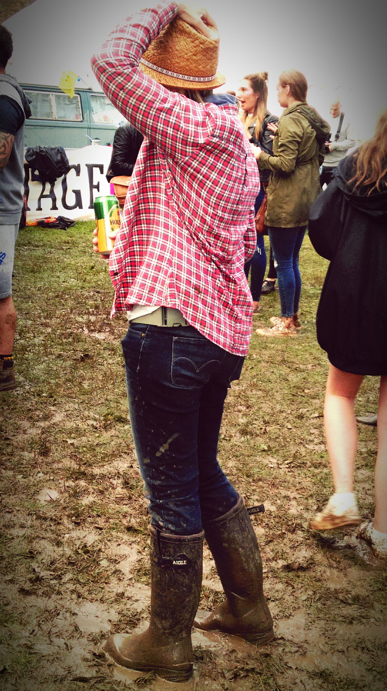 Festival People Music Festival Festival People Festival Season Festival Photography People Watching Wet Weather Muddy Wellington Boots Boots Wellies  Having Fun Enjoying A Drink  Phone Photography HTC One