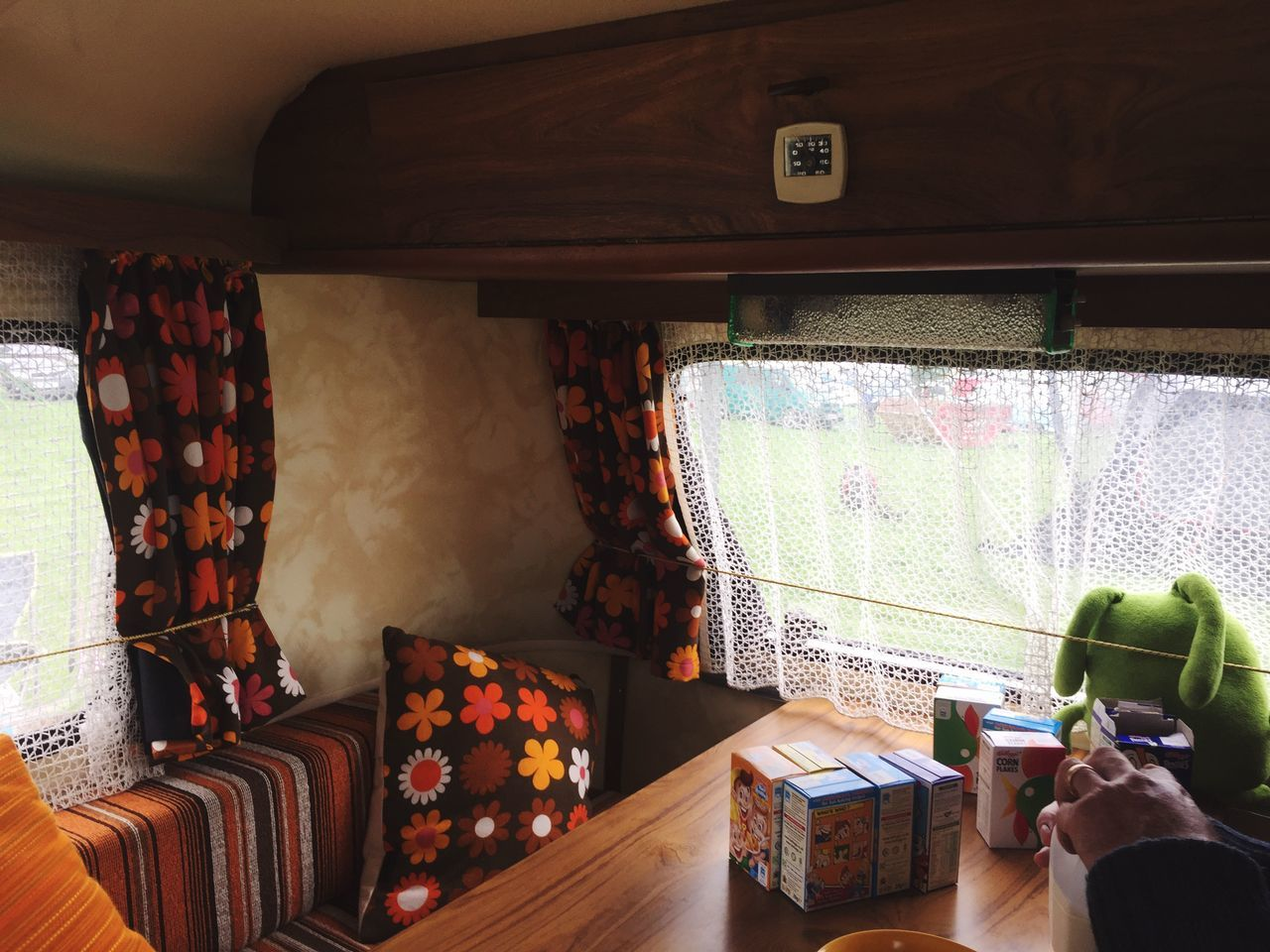 Live For The Story Retro Camping Nostalgia Camper Van Adventure Home Interior Caravan Caravanning 70s 70s Orange