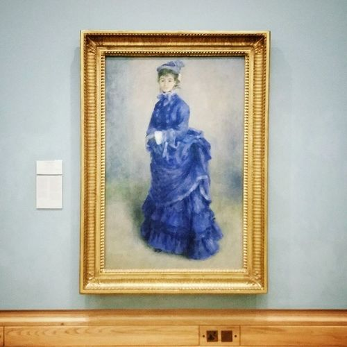 Impossible to go to Cardiff Muesum without seeing 'La Parisienne' by Renoir  .