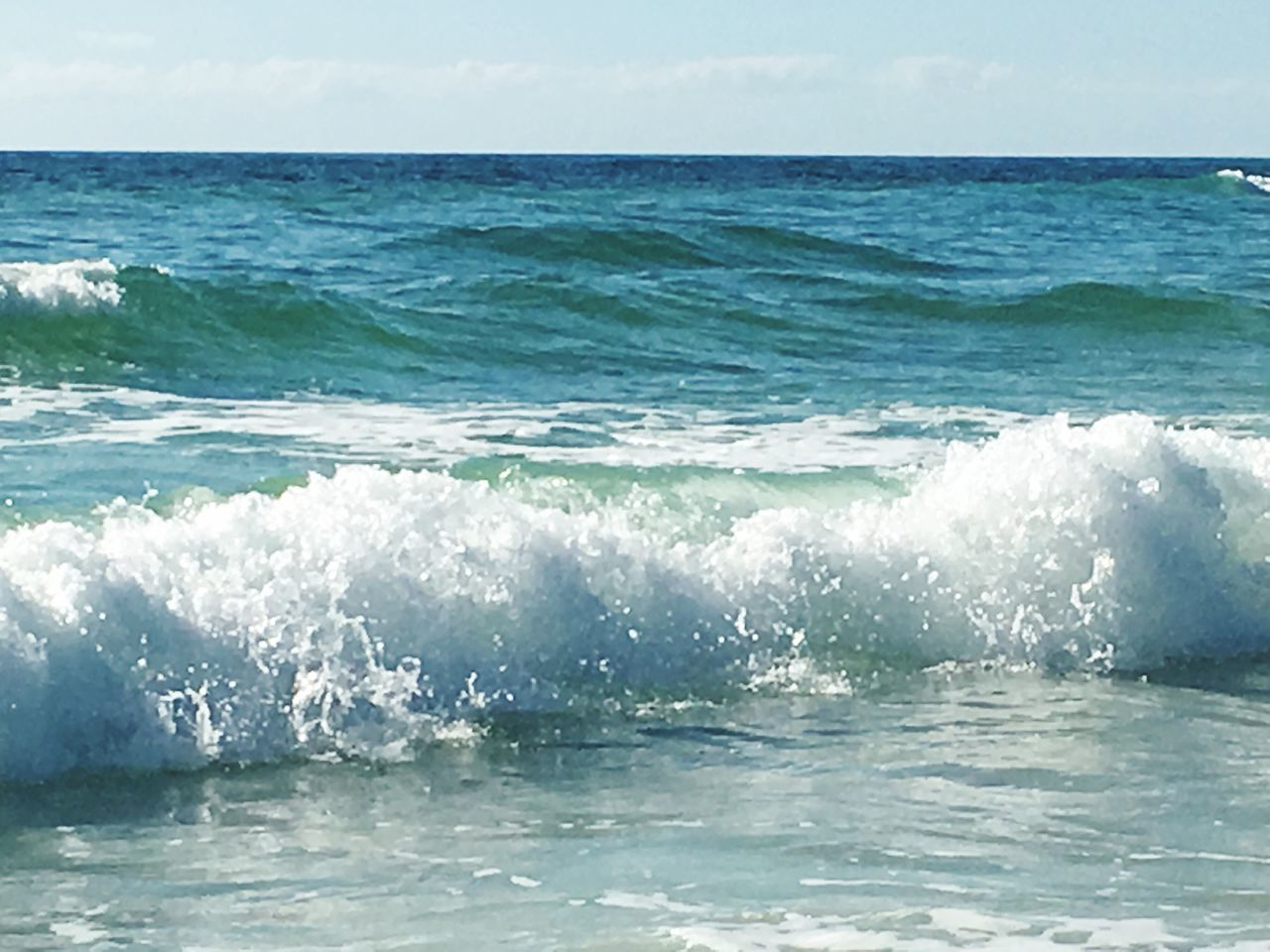 sea, water, nature, beauty in nature, horizon over water, wave, scenics, waterfront, no people, motion, outdoors, day, sky