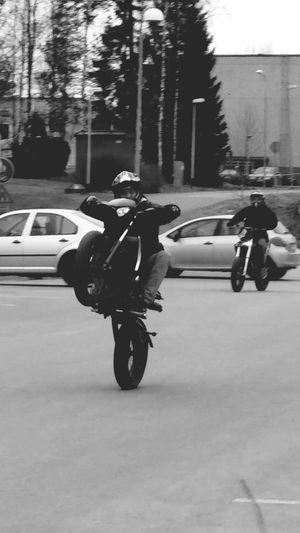 Stunting Wheelie