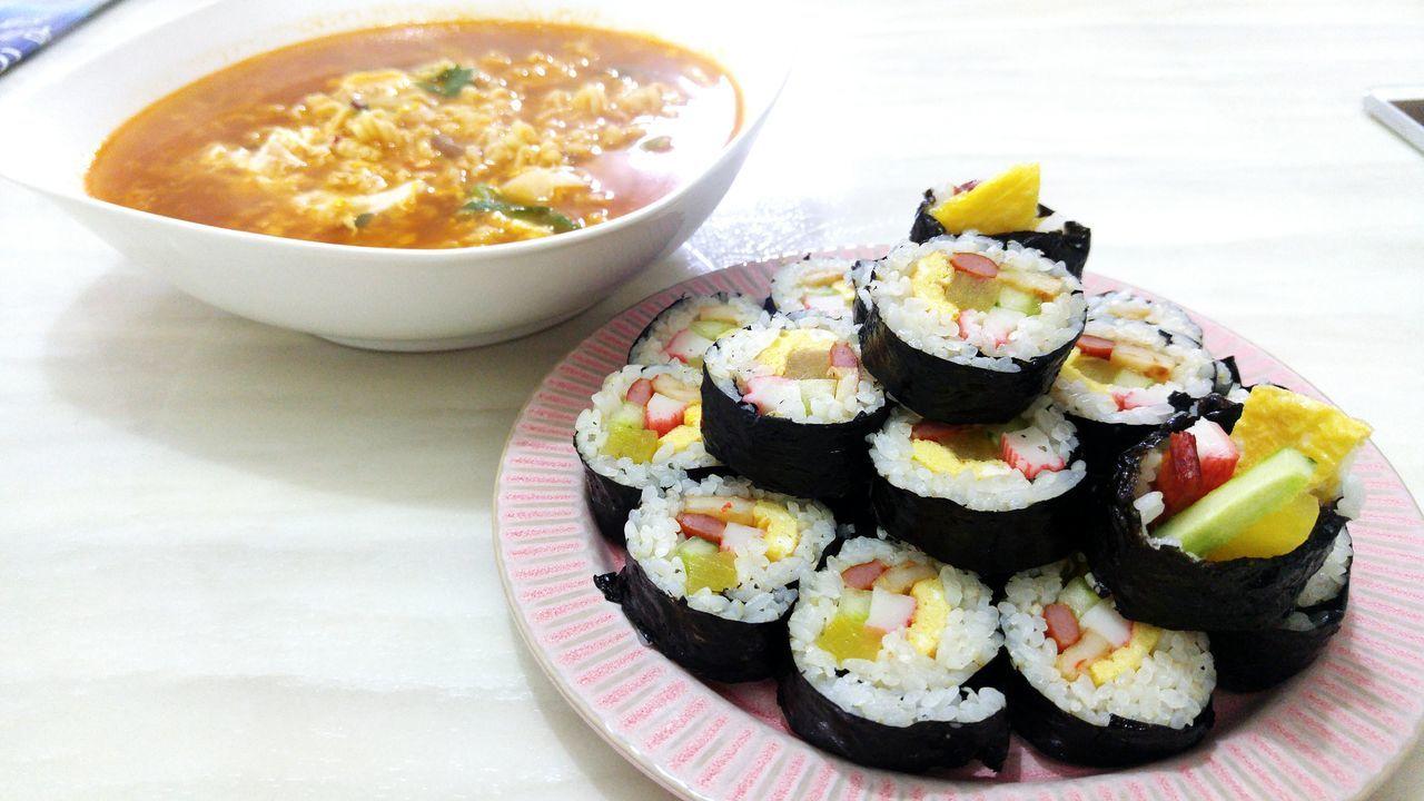 김밥 라면 Gim-Bab Ramen Korea Food