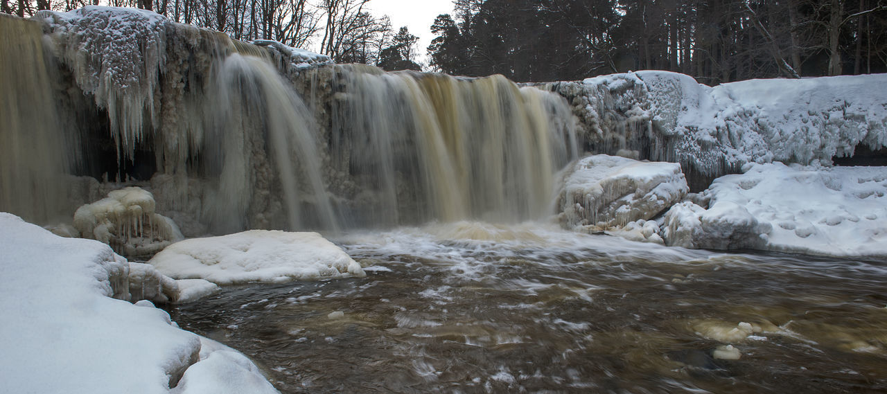 Beauty In Nature Cold Temperature Day EyeEmNewHere Fantastic View February Landscape Long Exposure Motion Nature No People Outdoors River Riverside Scenics Tranquil Scene Tranquility Travel Destinations Tree Water Waterfall Waterfront Winter