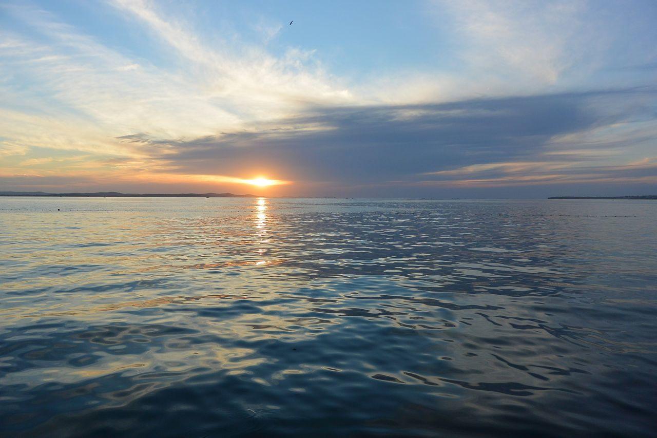 Adriatic Sea Blue Croatia Europe Horizon Horizon Over Water Landscape Moment Relaxing Sea Sky Summer Sun Sunset View Water Zadar
