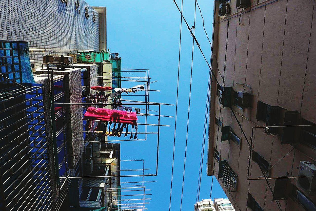 Shanghailife Shanghai, China Lifestyles Clothingline Clothingracks Laundry