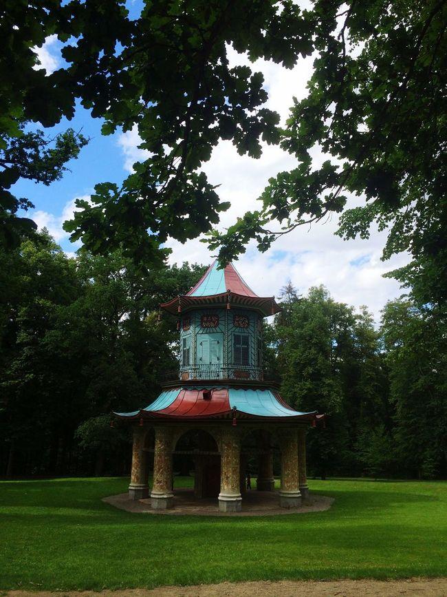 Czech Republic Park Vlašim Pavilon Chinese Pavillion Trip Sunny Day Tree Outdoors