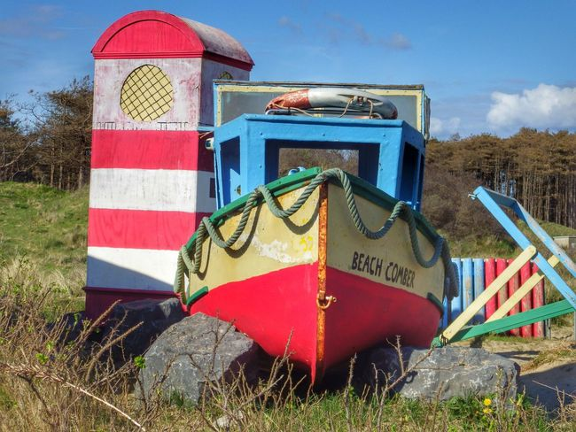 Wales Photography Taking Photos Check This Out Boat Lighthouse Cartoon Like Red Red And White Beach Enjoying The Sun Summer Scene Escaping