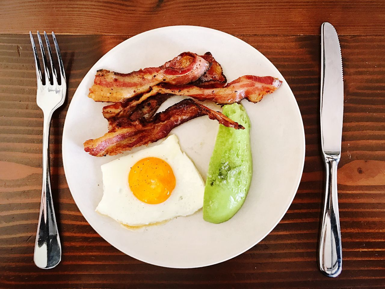 Ketogenic Keto KetogenicDiet Breakfast // Plate Fork Food And Drink Breakfast Fried Egg Fried English Breakfast Food Table Freshness Bacon Healthy Eating Indoors  No People Close-up Sausage Ready-to-eat Day Bacon! Bacon And Eggs