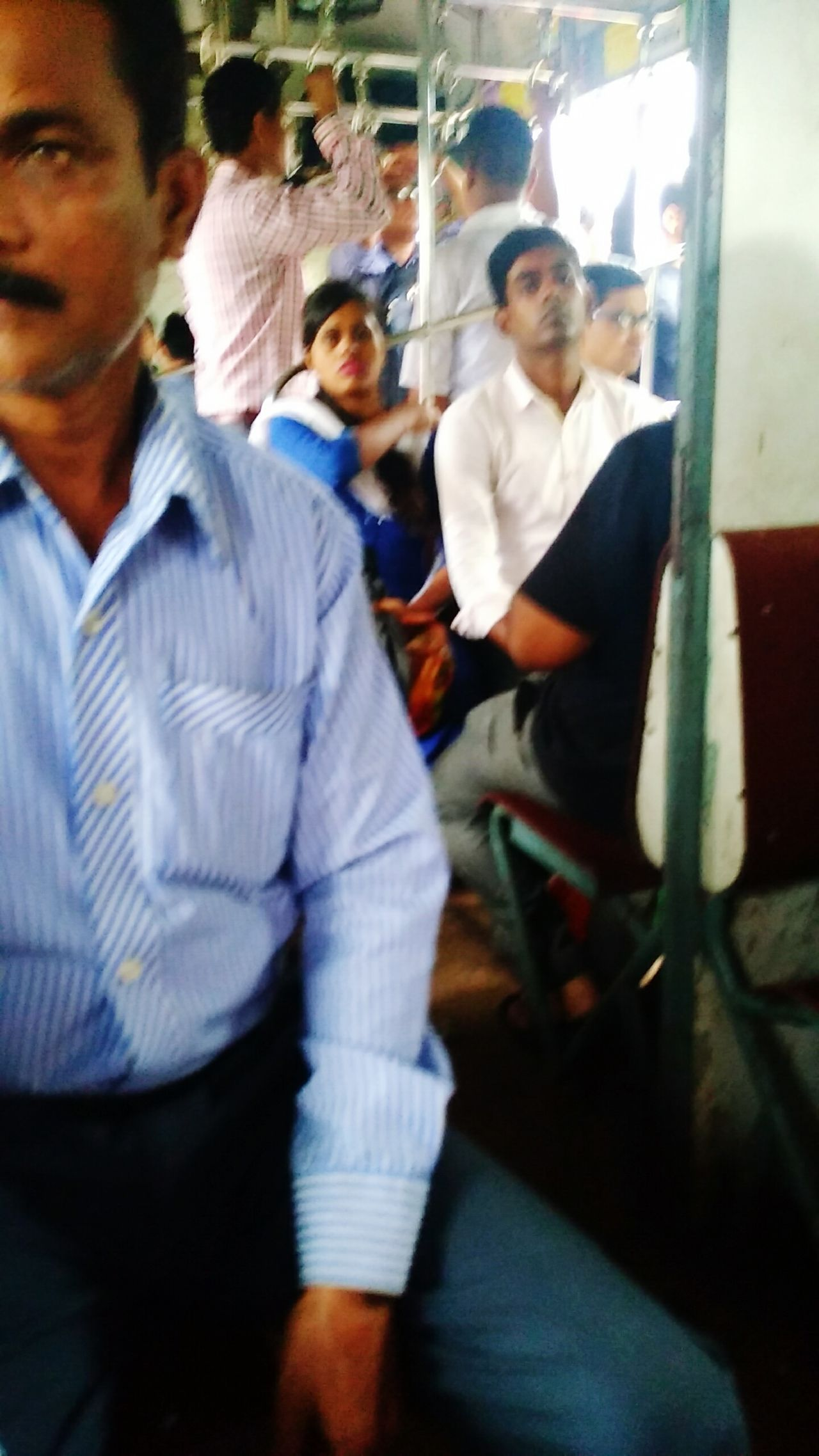 In Side A Train Compartment At Sodepur