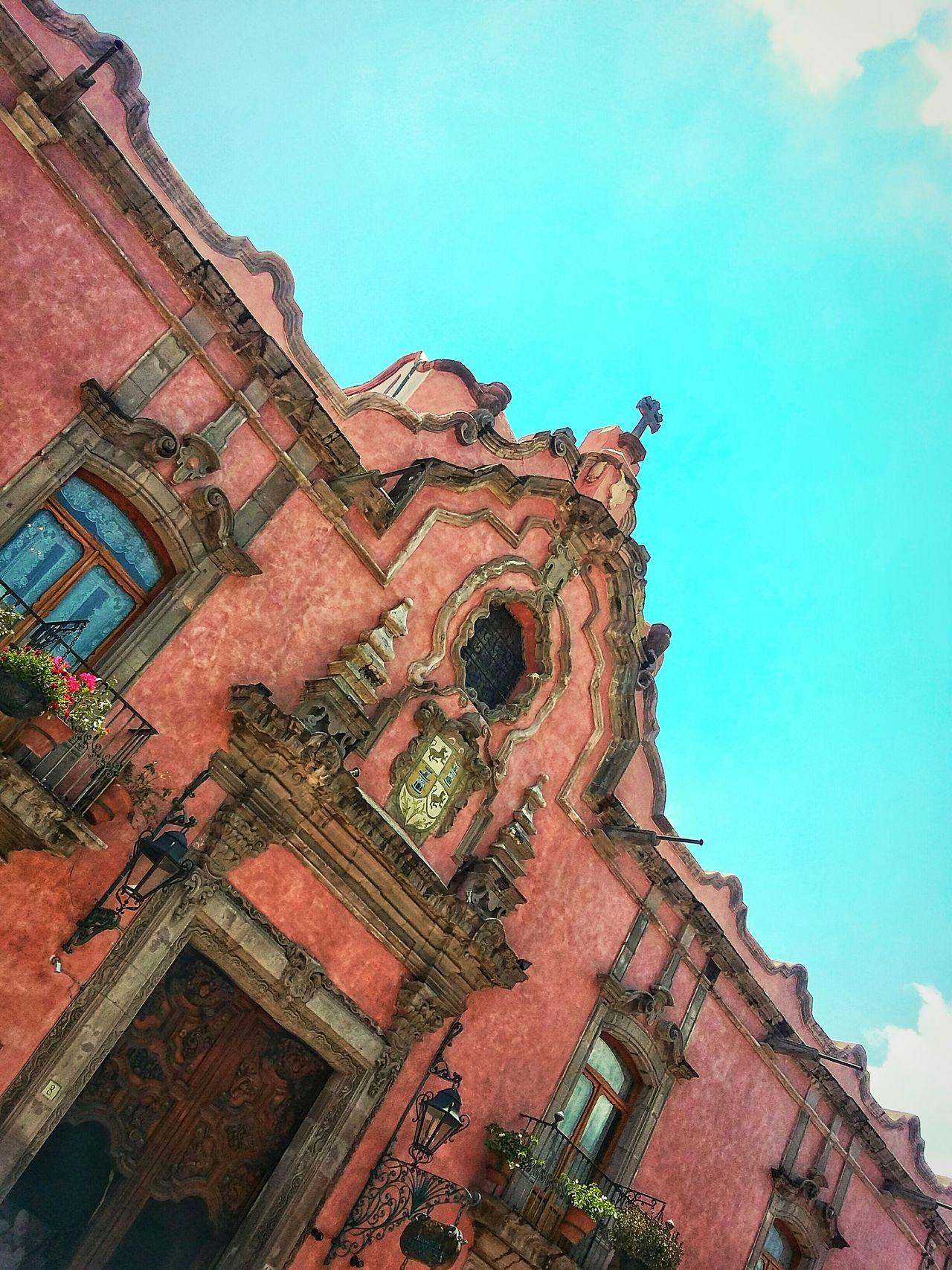 Casa De La Marquesa My City Colors Downtown Walking Around Queretaro, Mex. Architecture Sky Old House