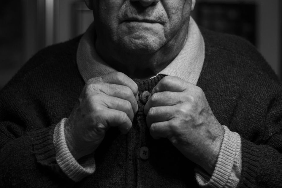 Granfather Granfather One Man Only Bnw People Human Body Part Monochrome Close-up Portrait Lifestyles