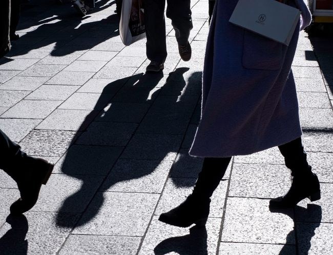 Ginza Tokyo Shadow Sunlight Low Section Day Sunny Outdoors Real People Walking Lifestyles Women Men Togetherness Human Body Part City People Adult The Graphic City Shades Of Winter EyeEmNewHere Love Yourself