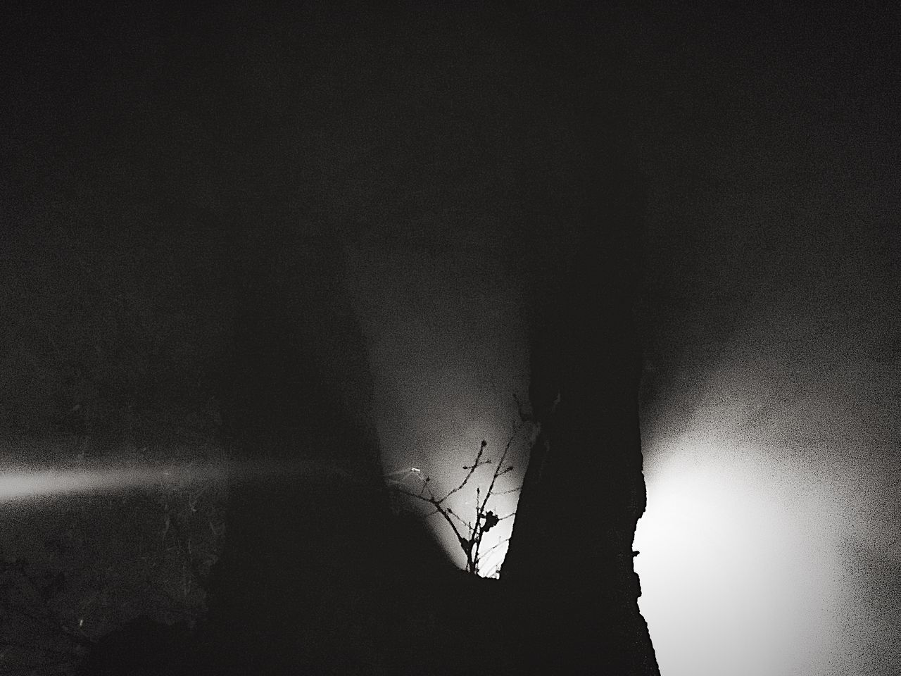 silhouette, nature, one person, indoors, night, water, sky, people