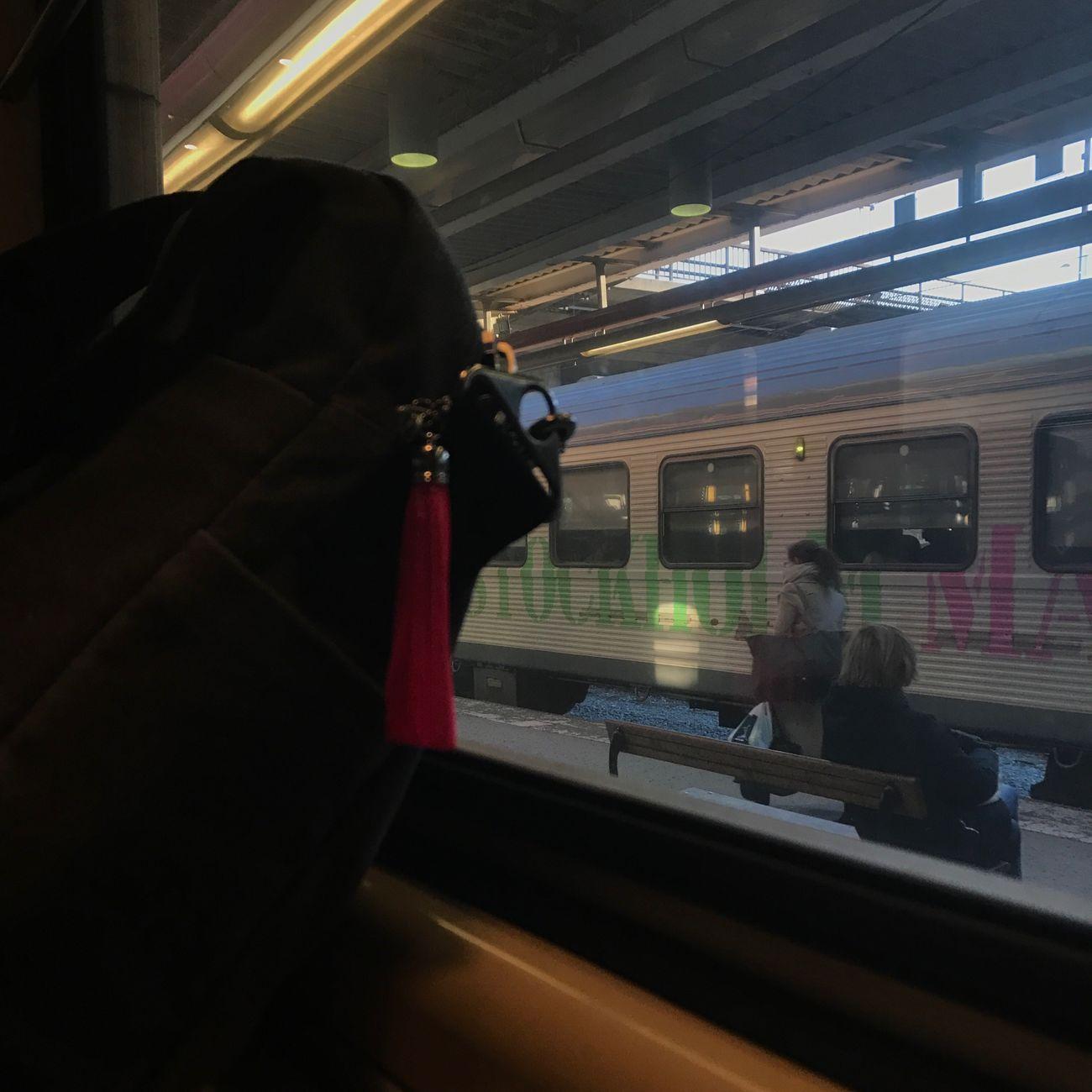 Train - Vehicle Vehicle Interior Two People Transportation